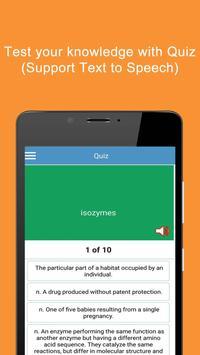 Biology Terms Dictionary apk screenshot