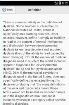 Recognize Dyslexia Disease poster