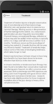 Recognize Tendinitis screenshot 1