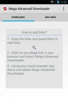 Advanced Downloader for Mega screenshot 3