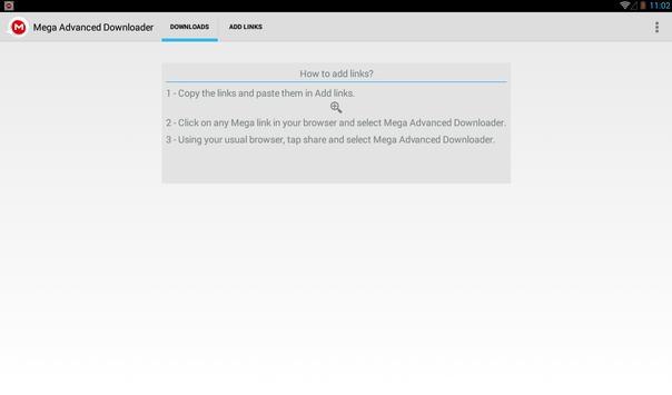 Advanced Downloader for Mega screenshot 7