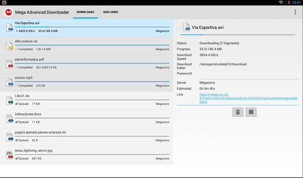 Advanced Downloader for Mega screenshot 4
