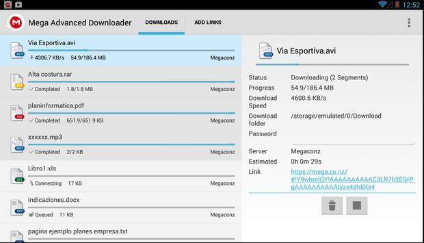 Advanced Downloader for Mega screenshot 8