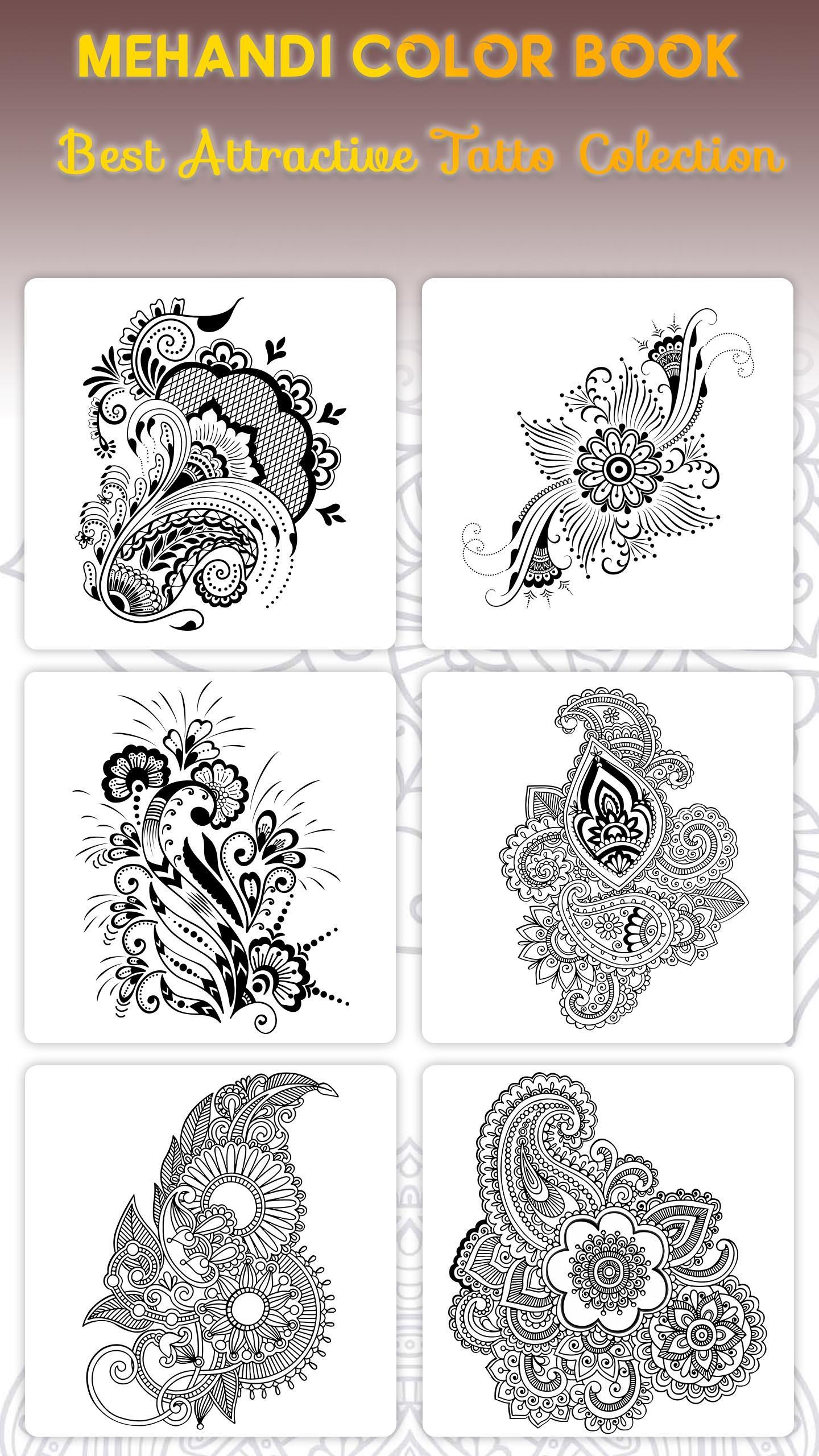 Latest Color Mehandi Designs Colouring Book For Android