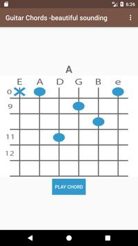 Guitar chords - beautiful sounding poster
