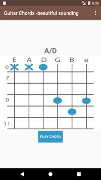 Guitar chords - beautiful sounding apk screenshot