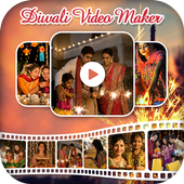 Diwali Photo Video Maker with Music icon