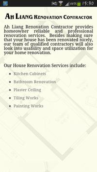 Ah Liang Renovation Contractor apk screenshot