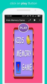 Kids Memory Game poster
