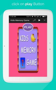 Kids Memory Game apk screenshot