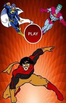Heroes Memory - quiz game poster