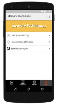 Memory Techniques screenshot 2