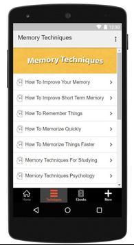 Memory Techniques screenshot 4