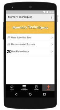 Memory Techniques screenshot 5