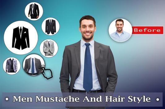 Man Mustache Hair Style : Stylish Man Photo Editor screenshot 3