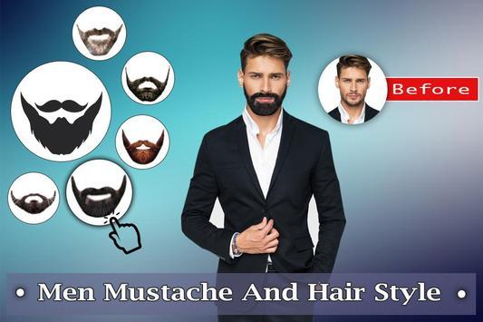 Man Mustache Hair Style : Stylish Man Photo Editor poster