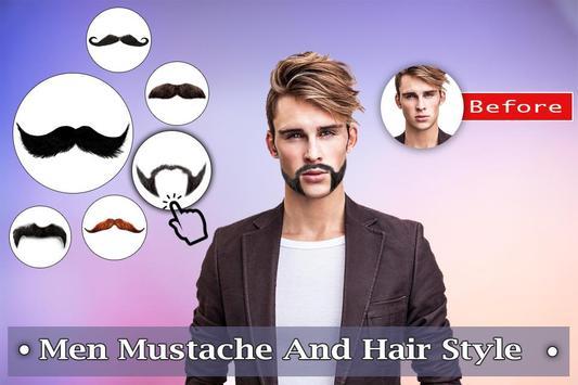 Man Mustache Hair Style : Stylish Man Photo Editor screenshot 1