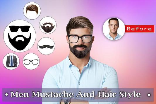 Man Mustache Hair Style : Stylish Man Photo Editor screenshot 4