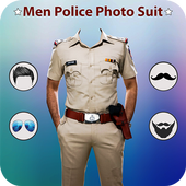 Man Mustache Police Photo Suit : Police Photo Suit icon