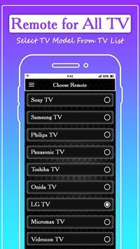 Remote for All TV: Universal Remote Control screenshot 2
