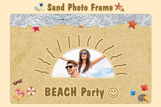 Name Art On Sand With Photo / Draw & Photo On Sand poster