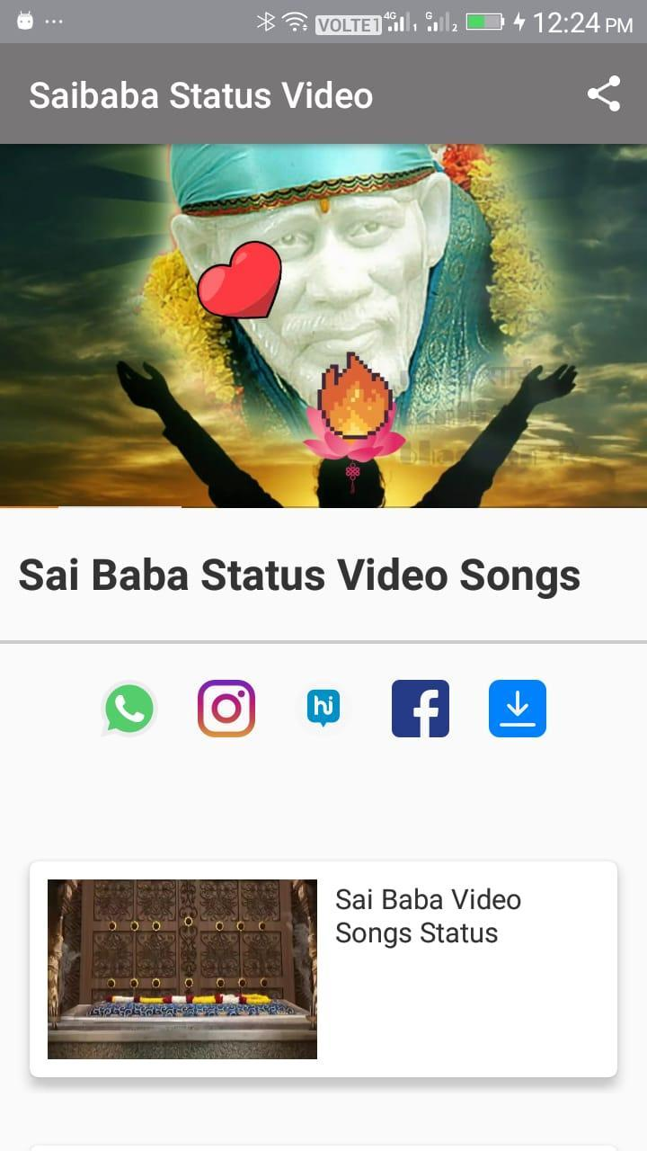 Shirdi Sai Baba Status Video Songs For Android Apk Download
