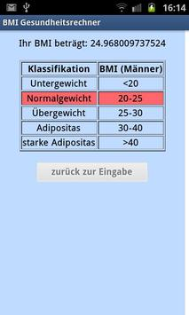 BMI Rechner poster