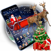 3D Merry Christmas Santa icon