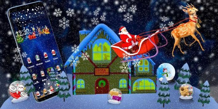 3D Merry Christmas Santa Theme screenshot 3