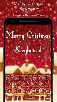 Merry Christmas Keyboard poster