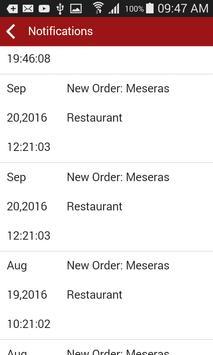 Meseras Order Taking apk screenshot