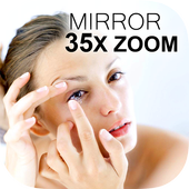 Mirror 35x Zoom for Contact Lenses and Makeup icon