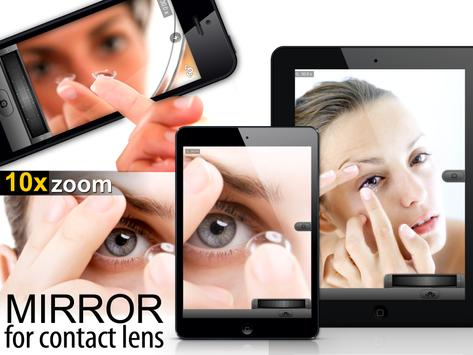 Mirror 35x Zoom for Contact Lenses and Makeup apk screenshot