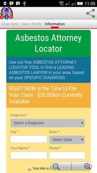 Mesothelioma Infochat screenshot 1