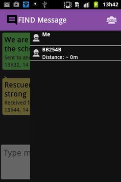 FIND Message apk screenshot