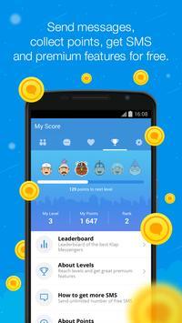 Klap Messenger - Free SMS screenshot 1