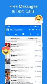 Free Messages, Video, Chat,Text for Messenger Plus screenshot 4