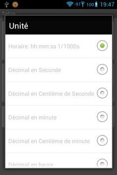 Chronomètre industriel apk screenshot