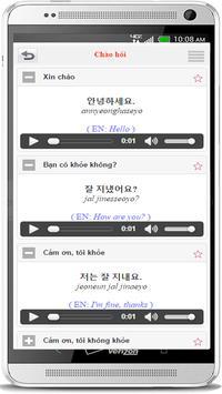 Học Tiếng Hàn Giao Tiếp apk screenshot