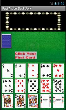 Fast Action Black Jack Advice apk screenshot