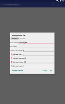Magazyn części screenshot 2
