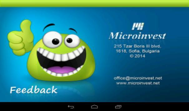 Microinvest Feedback apk screenshot