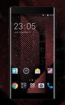 Theme for Micromax Bolt A40: Red Neon Line poster