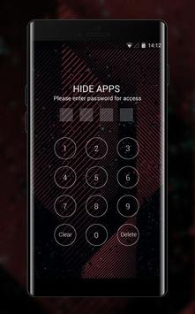 Theme for Micromax Bolt A40: Red Neon Line apk screenshot