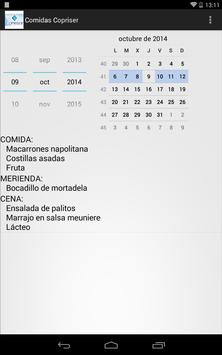 Comidas Copriser screenshot 3