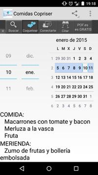 Comidas Copriser screenshot 1