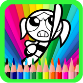 Power-Puf Girls Book Coloring icon