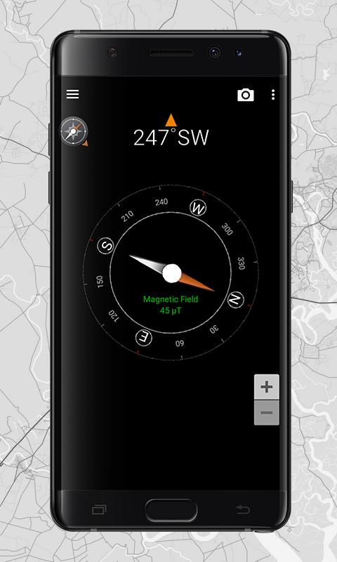 how to use compass on android
