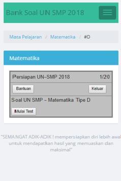Sukses Menghadapi UN SMP 2018 apk screenshot