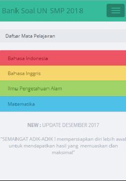Soal UN SMP 2018 Lengkap Terbaru screenshot 1